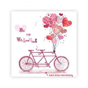 Be my Valentine Bicycle Napkins