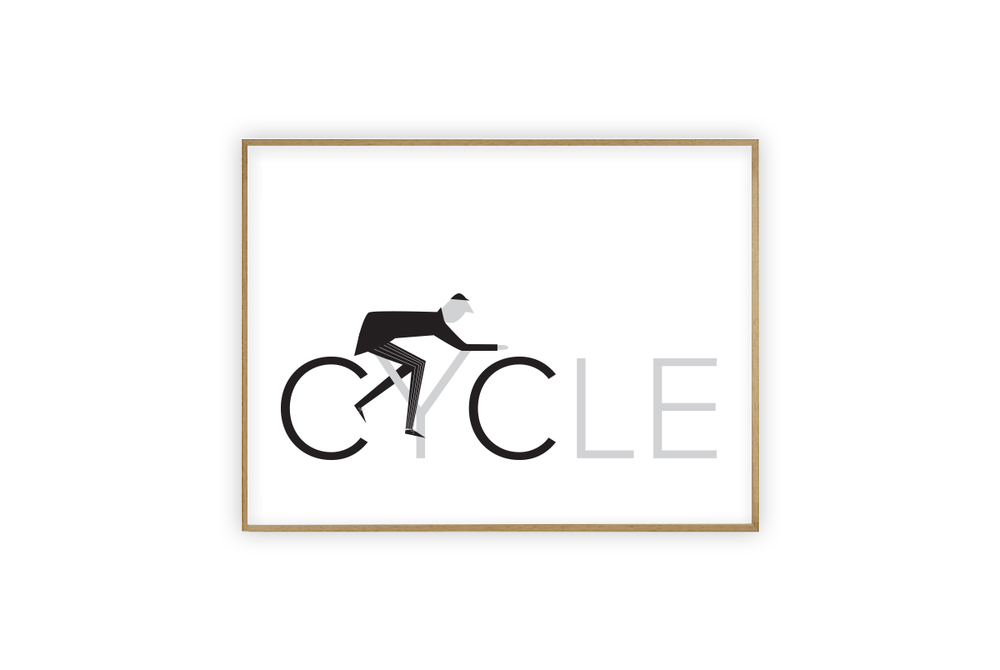 Cycle Print by Rebecca J Kaye