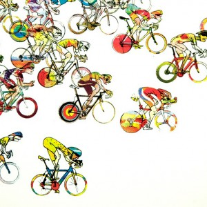 Rideout Cycling Print by Simon Spilsbury