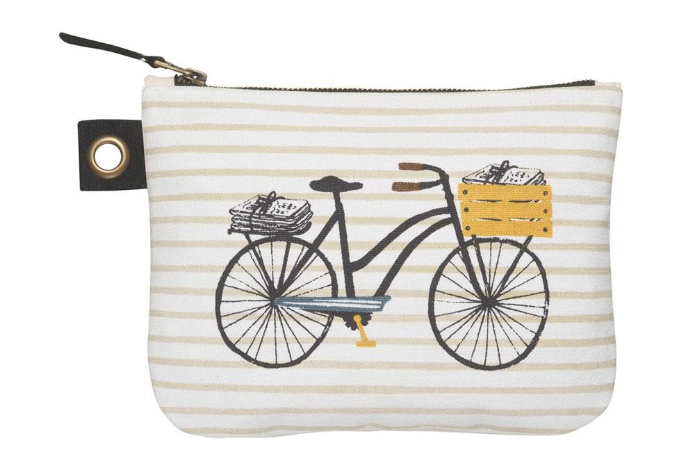 Danica Bicicletta Large Zipper Pouch