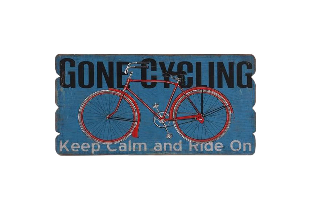 Gone Cycling Wooden Bicycle Sign