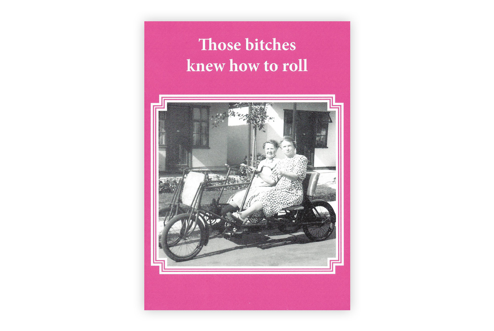 Those bitches Bicycle Greeting Card