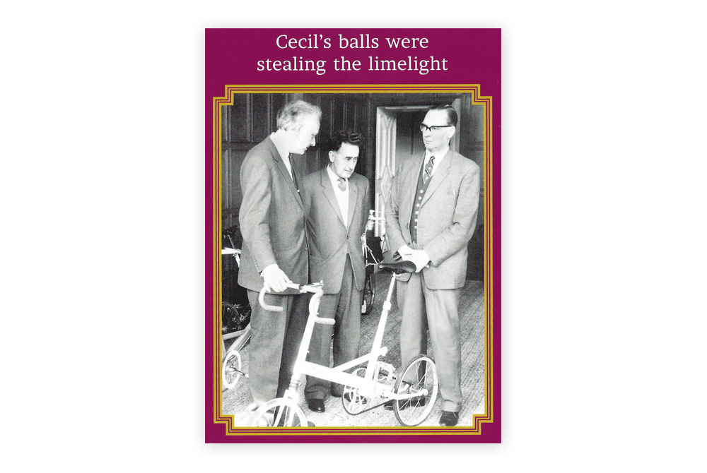 Cecil's balls Bicycle Greeting Card