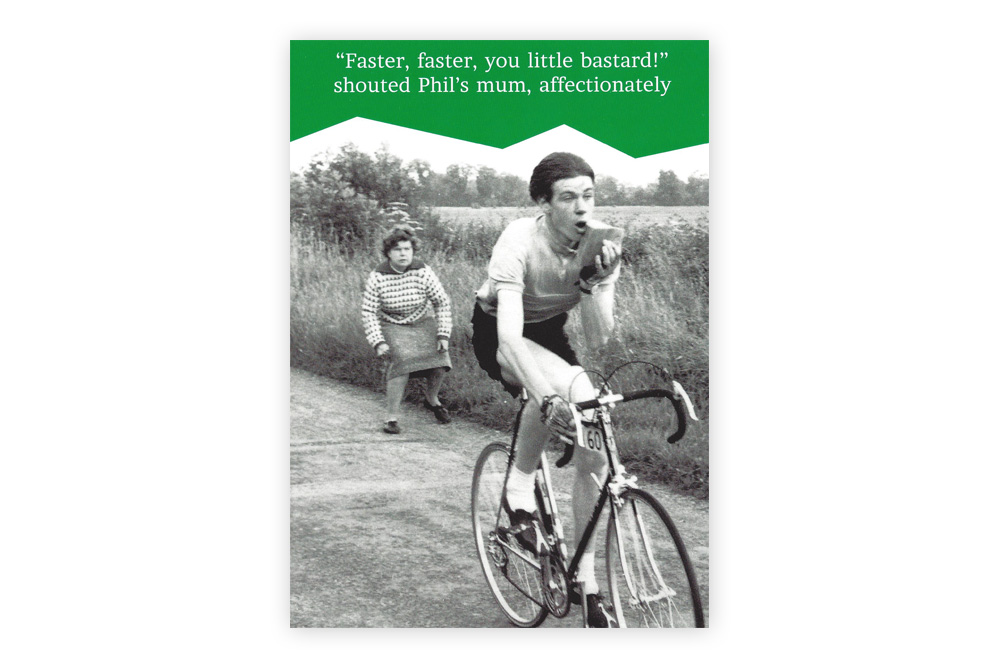 Little bastard Bicycle Greeting Card