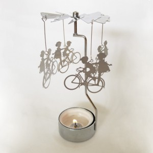 Bicycle Tealight Spinner
