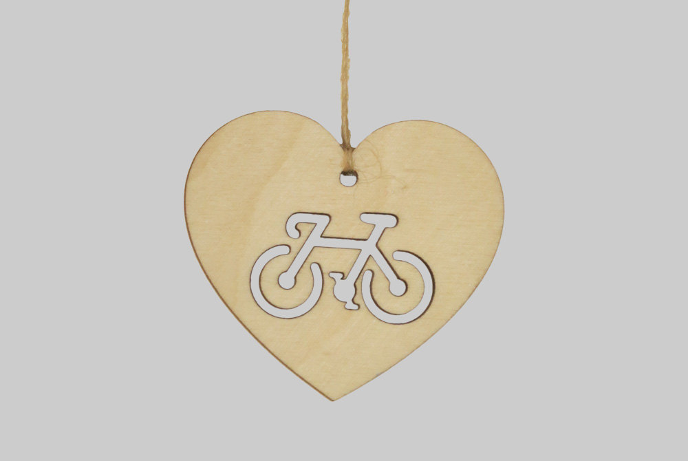 Bike Love Wooden Bicycle Decorations