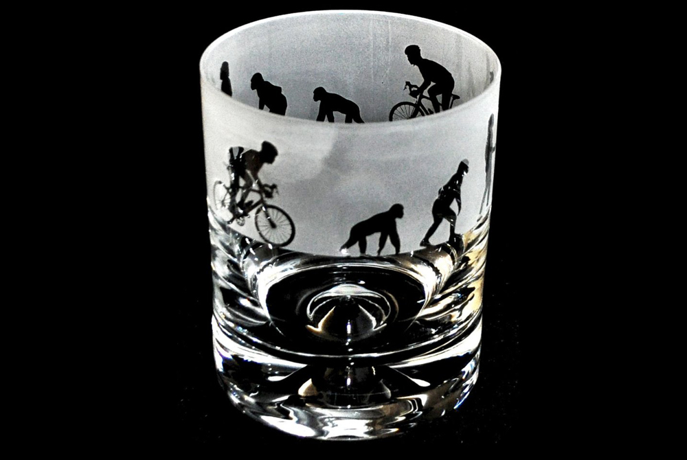 Evolution Cyclist Glass Tumbler