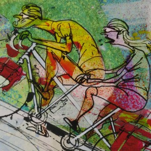 Tandem Pain Cycling Print – Simon Spilsbury