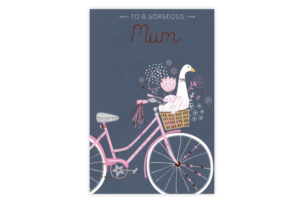 Gorgeous Mum Bicycle Greeting Card