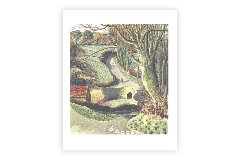 Cycling Home Bicycle Greeting Card by Simon Palmer