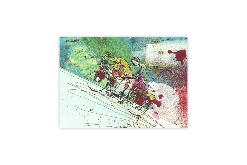 Tandem Bicycle Greeting Card – Simon Spilsbury