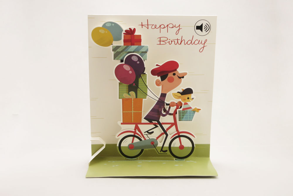 Pop up cards cyclemiles 495 french man musical pop up greeting card m4hsunfo