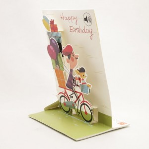 French Man Musical Pop Up Greeting Card