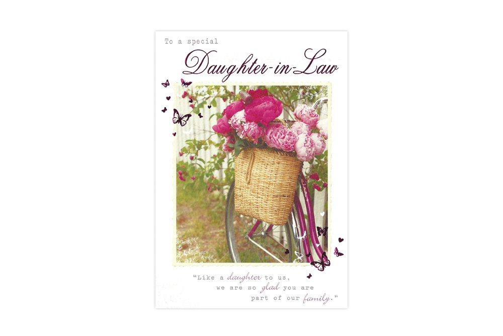 Daughter-in-Law Bicycle Greeting Card