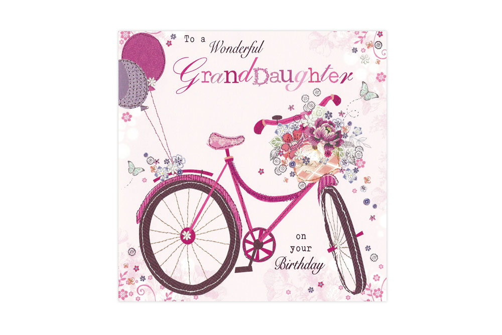 Wonderful GrandDaughter Bicycle Greeting Card