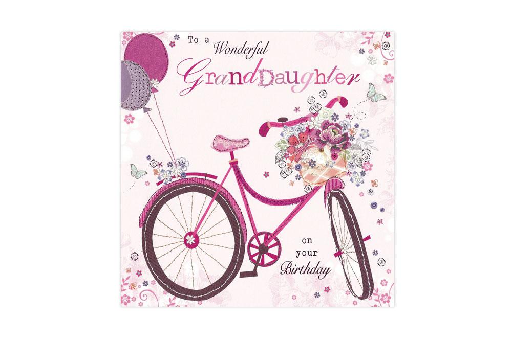 Wonderful GrandDaughter Bicycle Greeting Card