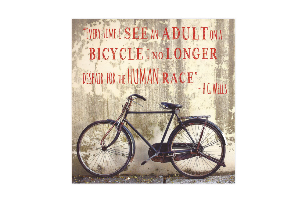 I no longer despair for the human race Bicycle Greeting Card