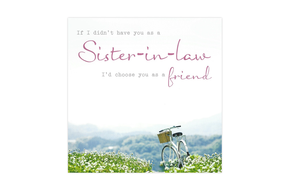 Sister-in-Law Bicycle Birthday Card