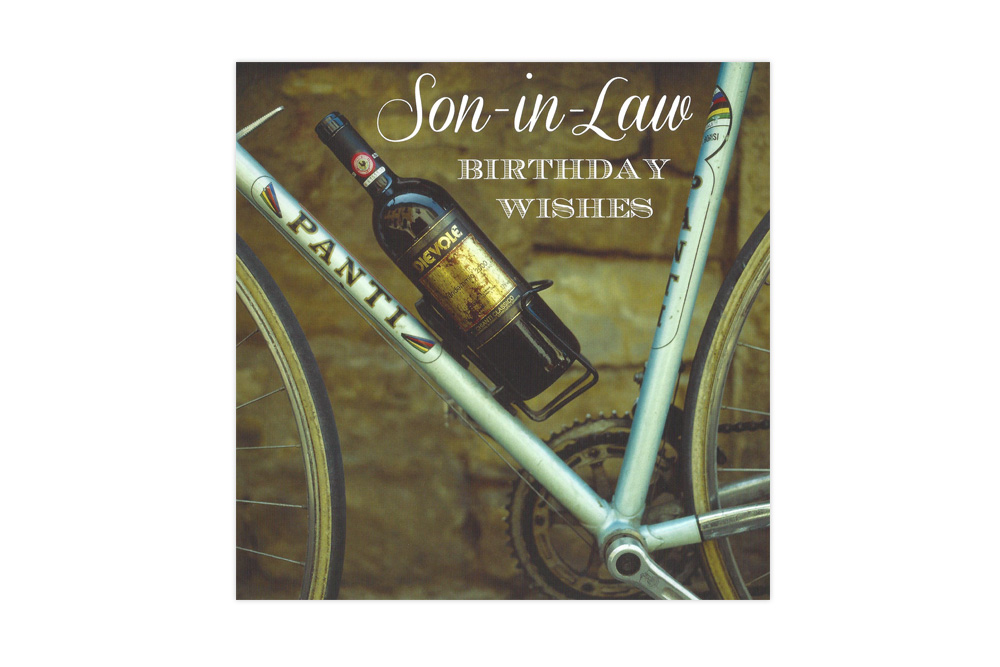 Son-in-Law Bicycle Greeting Card