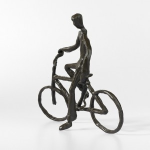 Man on a Bicycle Sculpture