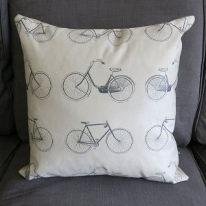 Vintage Grey Patterned Bicycle Cushion