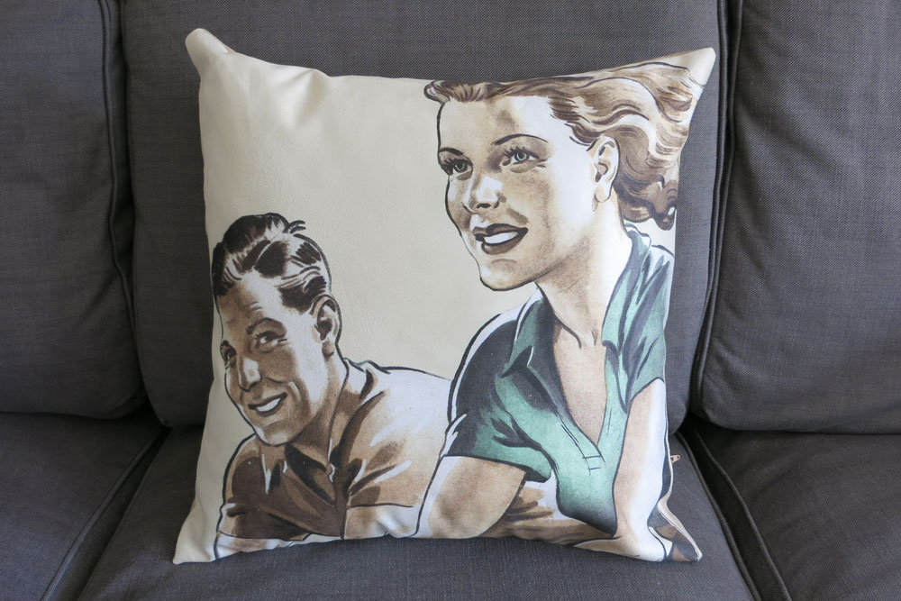 CycleMiles 1950′s Couple Bicycle Cushion