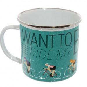 I want to Ride my Bicycle Enamel Mug