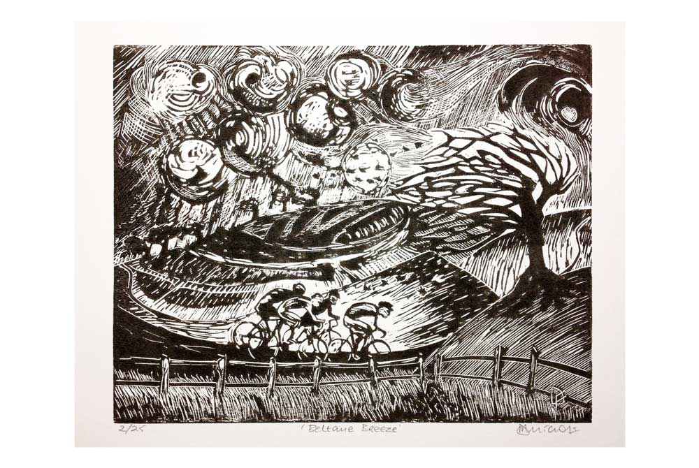 Beltane Breeze Cycling Print by Dave Flitcroft