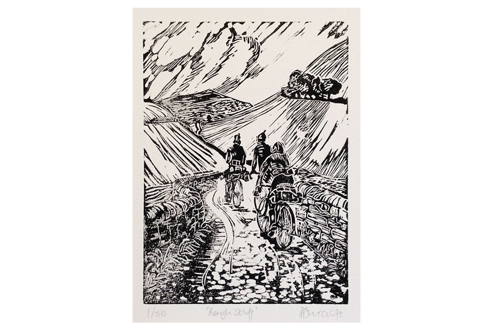 Rough Stuff Cycling Print by Dave Flitcroft