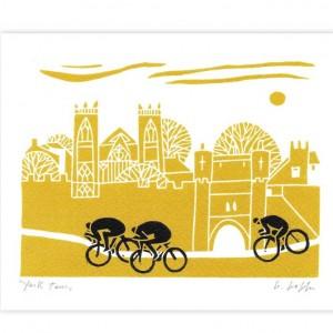 York Tour Bicycle Greeting Card