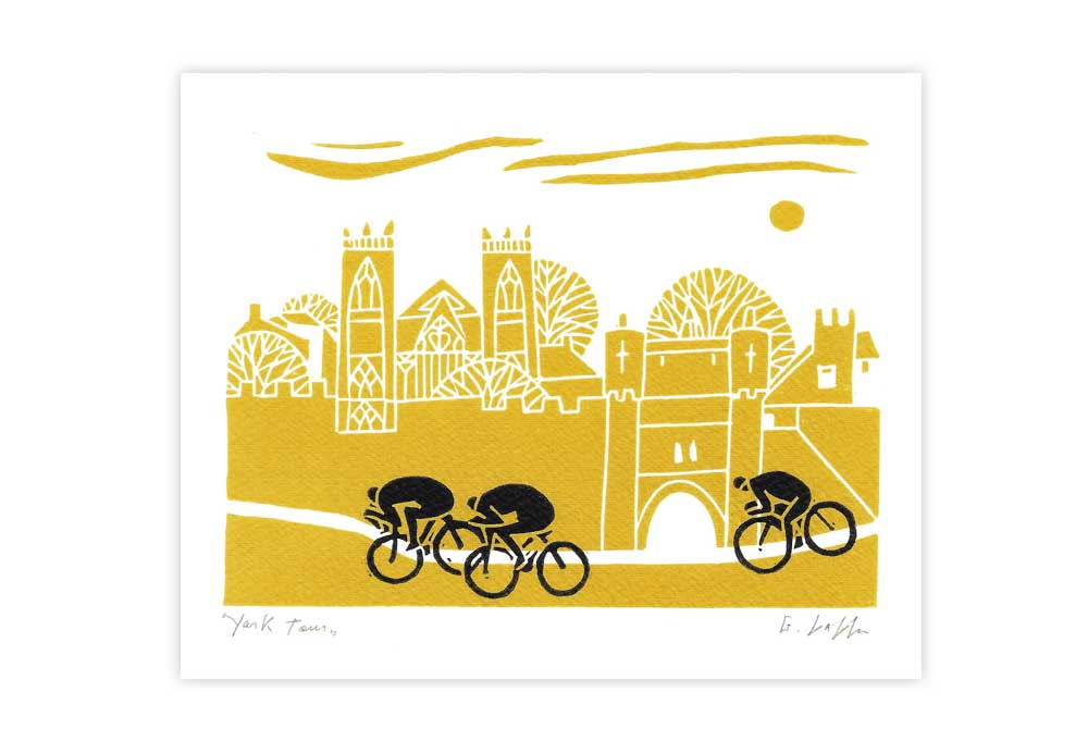 York Tour Bicycle Greeting Card