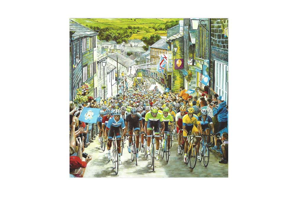 The Race is On Bicycle Greeting Card
