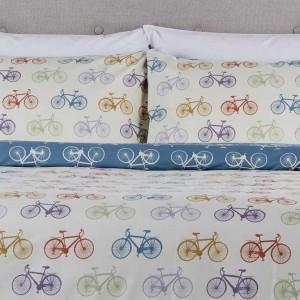 Multi King Size Bicycle Duvet Set