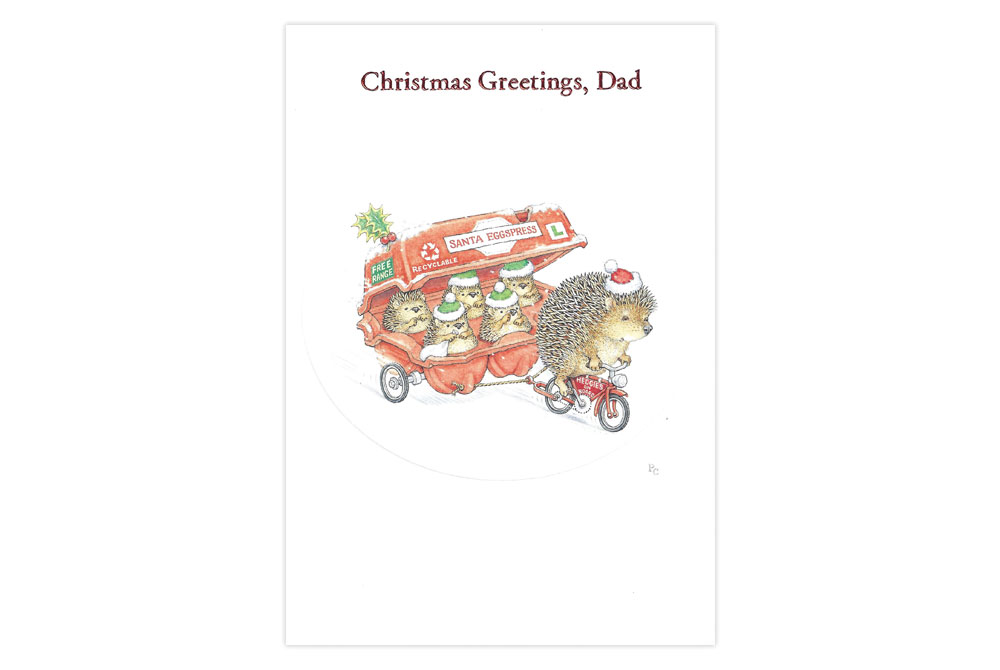 Christmas Greetings Dad Bicycle Christmas Card