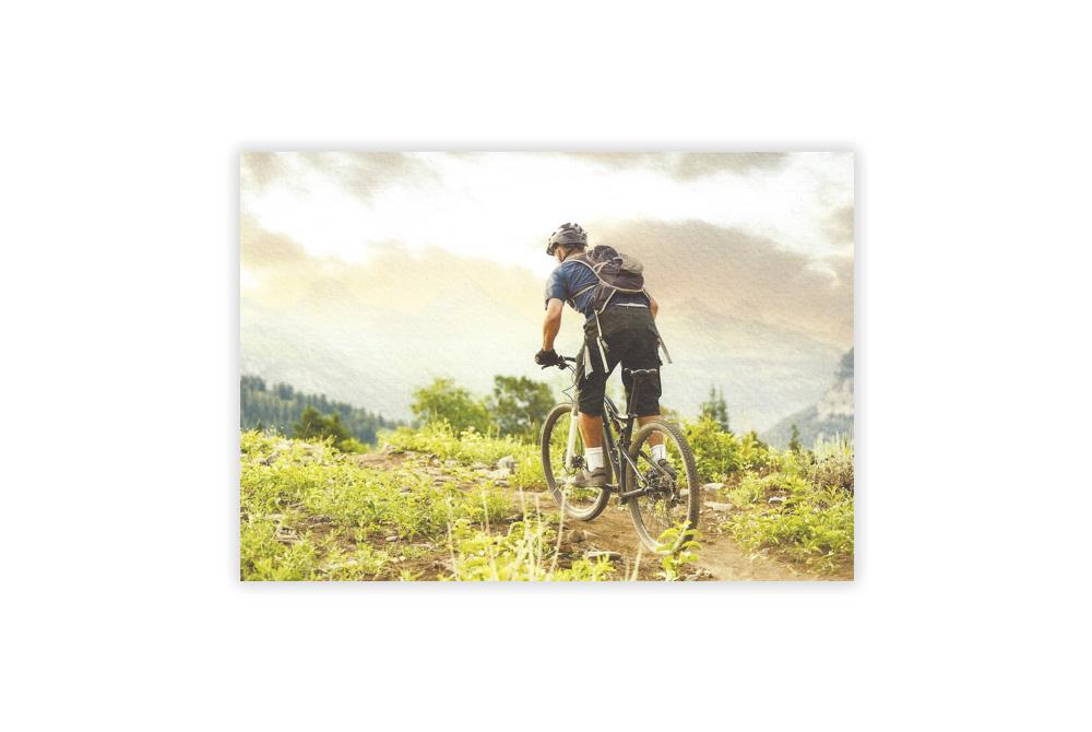 Mountain Biker Bicycle Greeting Card
