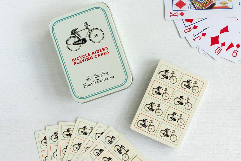 Bicycle Riders Playing Cards in a Tin