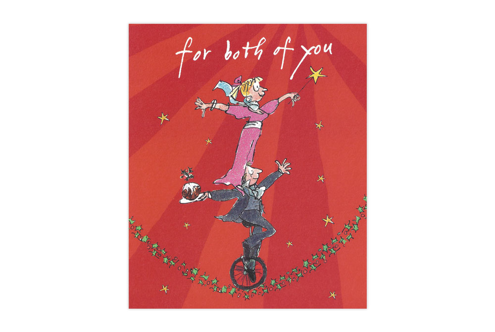 For Both of You Bicycle Christmas Card