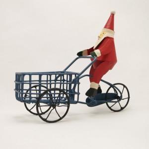 Bicycle Christmas Decoration – Santa on a Cargo Bike