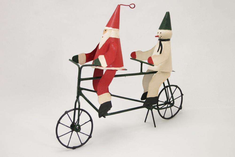 Tandem Christmas Decoration – Santa and Snowma