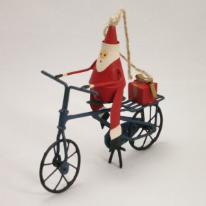 Bicycle Christmas Decoration – Santa with a gift