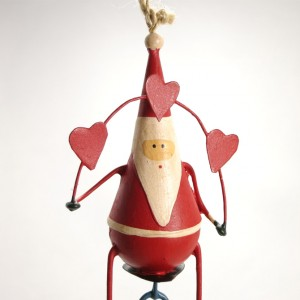 Bicycle Christmas Decoration – Santa on a Unicycle