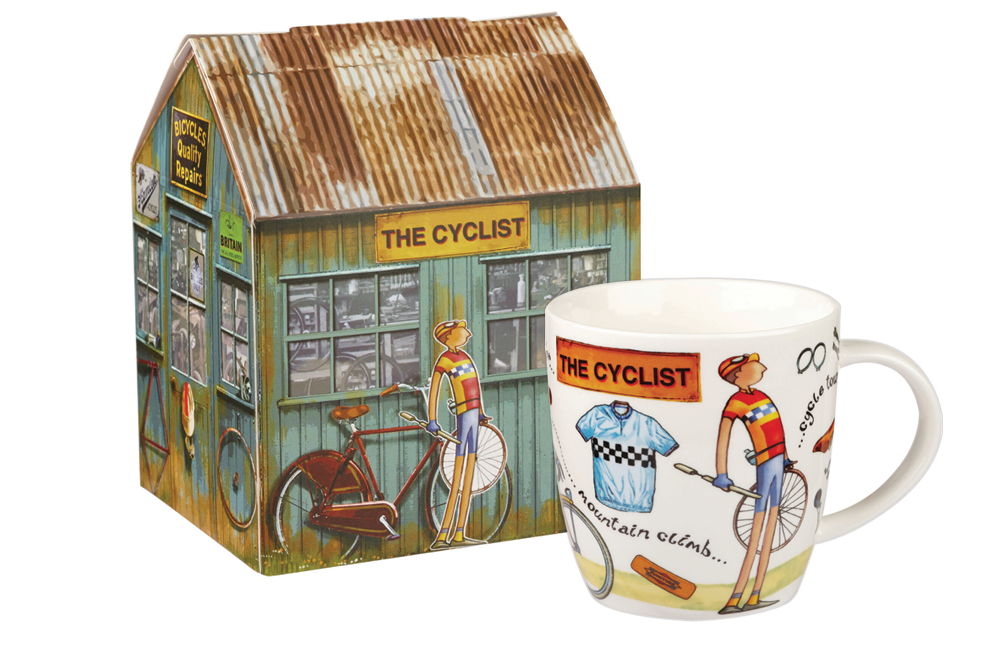 The Cyclist Mug and Gift Box