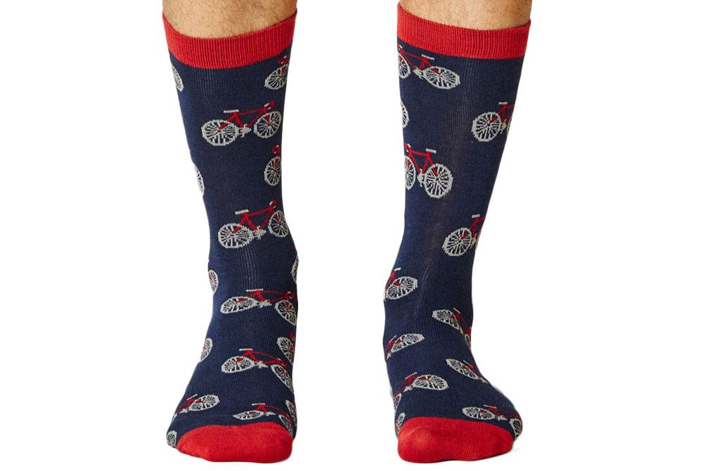 Men's Bamboo Bicycle Socks – Navy