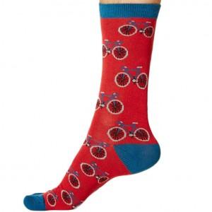 Men's Bamboo Bicycle Socks – Red