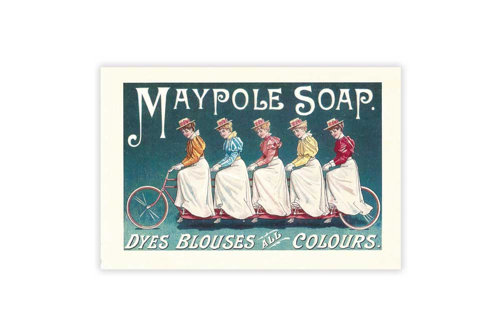 Maypole Soap Bicycle Postcard