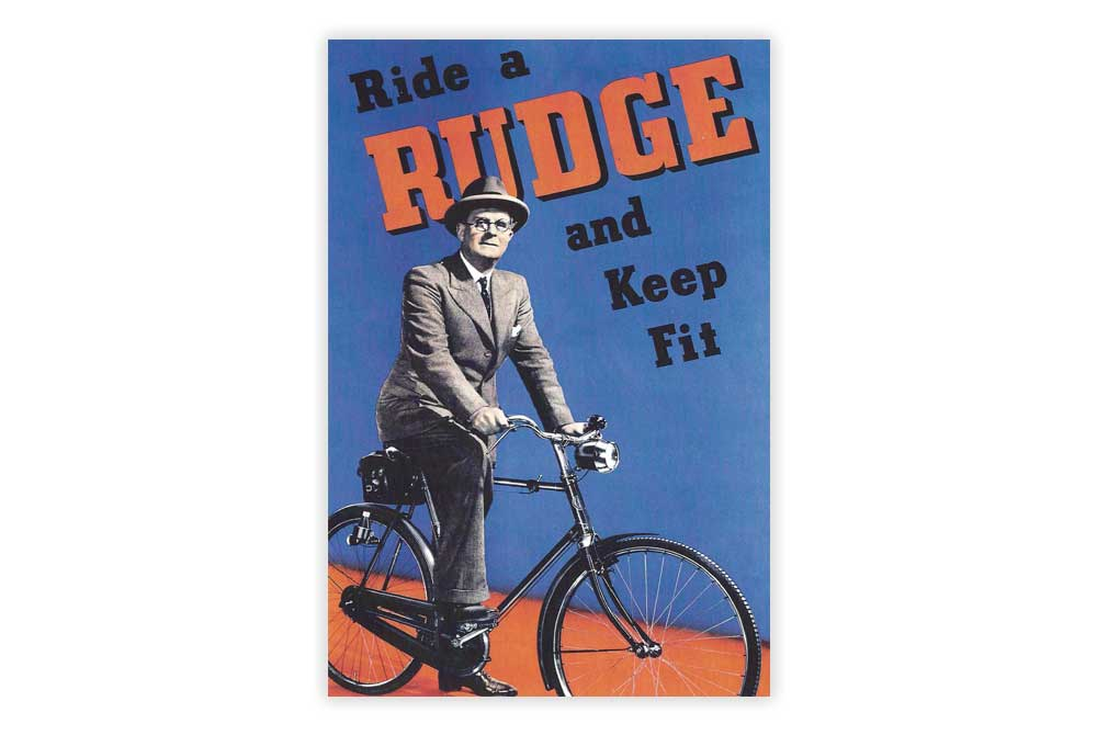 Ride a Rudge Bicycle Postcard