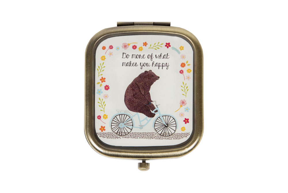 Bear on a Bicycle Compact Mirror