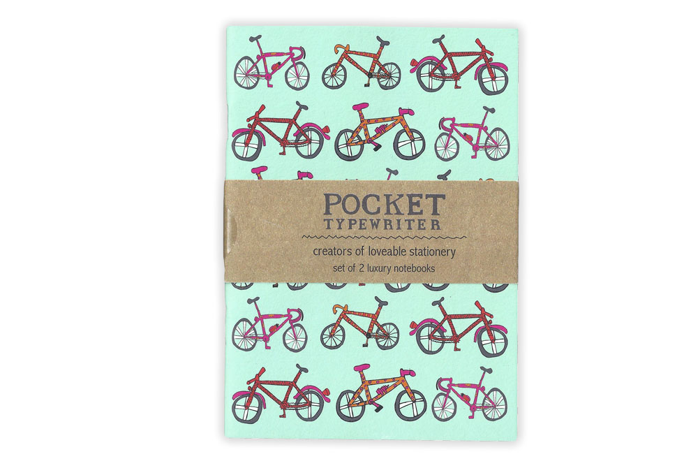 Pocket Typewriter Set of 2 Bicycle Notebooks