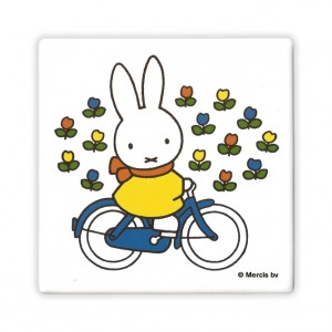 Miffy Ceramic Bicycle Coaster