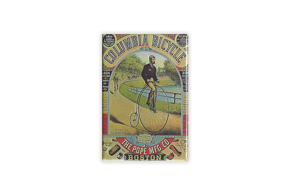 Columbia Bicycle Fridge Magnet